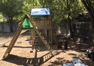 Ansamblu Jungle Gym Fort si Modul Climb extra perete de catarare - 1