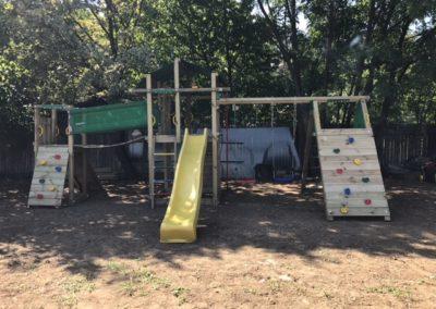 Ansamblu Jungle Gym Fort si Modul Climb extra perete de catarare - 2