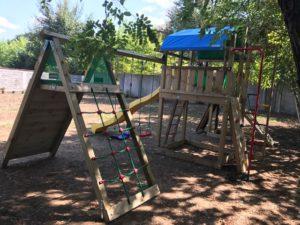 Ansamblu Jungle Gym Fort si Modul Climb extra perete de catarare - 3
