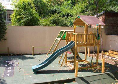 Ansamblu de joaca Jungle Gym Cabin cu Modul Climb perete de catarare si Modul Swing leagan - 2