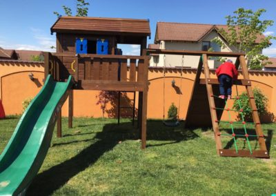Ansamblu de joaca Jungle Gym Playhouse - Paleu