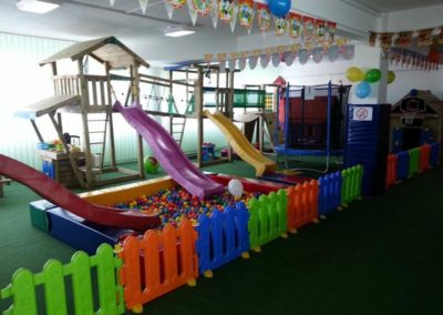 Ansamblu loc de joaca Jungle Gym Club cu Modul Mini Market, Modul Net Link si Modul Bridge Link pod - Timisoara