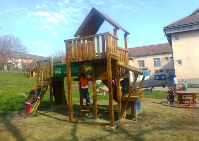 Jungle Gym Palace turn, Modul Mini market si Modul Climb extra perete de catarare - Zalau 1