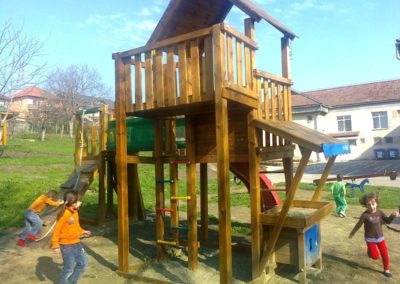 Jungle Gym Palace turn, Modul Mini market si Modul Climb extra perete de catarare - Zalau