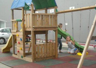 Loc de joaca Jungle Gym Farm cu Modul Swing extra 2 leagane - 2