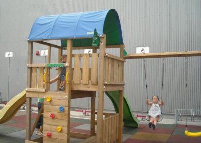 Loc de joaca Jungle Gym Farm cu Modul Swing extra 2 leagane