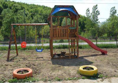 Loc de joaca copii Jungle Gym Barn cu Modul Swing Extra 2 leagane