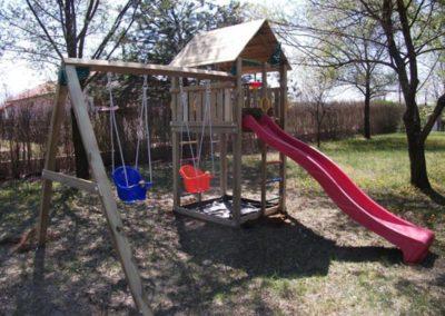 Loc de joaca copii Jungle Gym Cabin cu Modul Swing extra 2 leagane - Ungaria