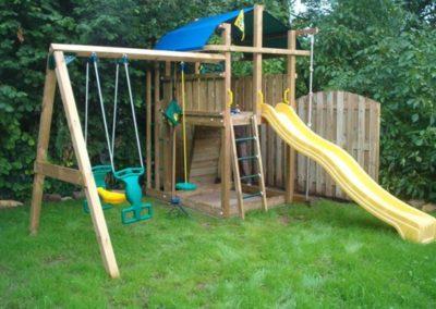 Loc de joaca copii Jungle Gym Fort cu Modul Swing Extra 2 leagane - Ungaria