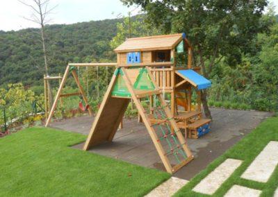 Loc de joaca copii Jungle Gym Playhouse, Modul Swing Extra 2 leagane, Modul Climb perete de catarare, Modul Piknik - Ungaria