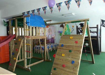 Loc de joaca copii Jungle Gym Villa cu Modul Climb Extra perete de catarare - Timisoara