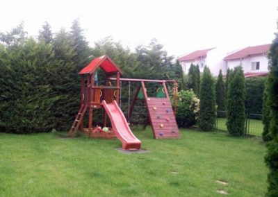 Turn Jungle Gym Castle acoperis rosu, Modul Climb perete de catarare