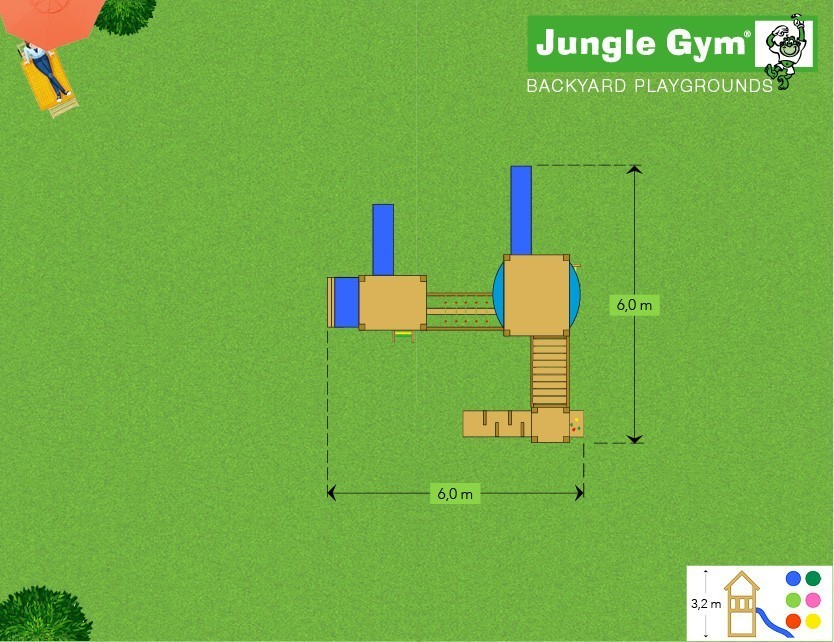 Jungle Gym Mega 6 loc de joaca plan
