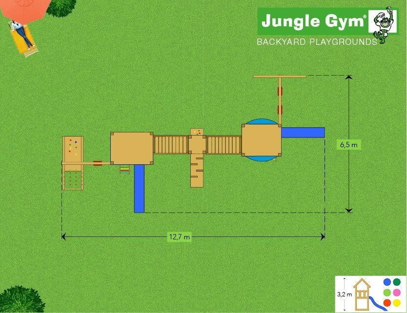 Jungle Gym Mega 8 loc de joaca plan 2
