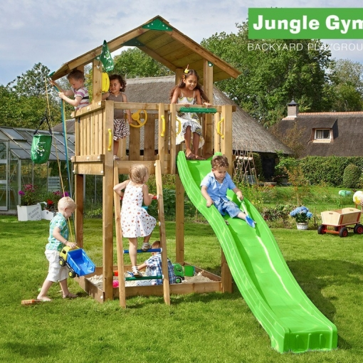 jungle gym chalet junglegym. Black Bedroom Furniture Sets. Home Design Ideas