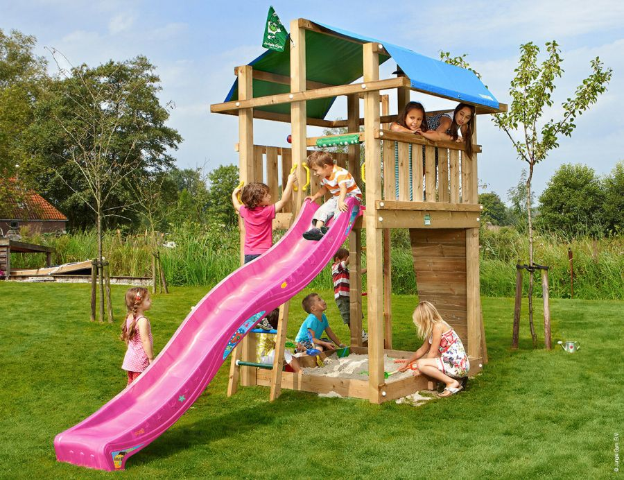 climing-frame-slide-jungle-fort